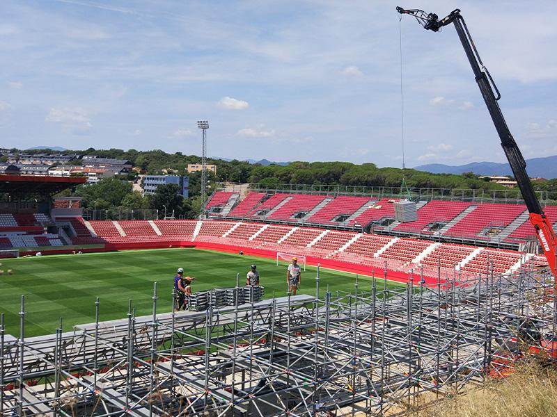 Gradas Norte, Este y Sur del Estadio Municipal de Montilivi (Girona)</br></br>2018</br></br><h4>Cliente: Nüssli Iberia S.A.</h4>