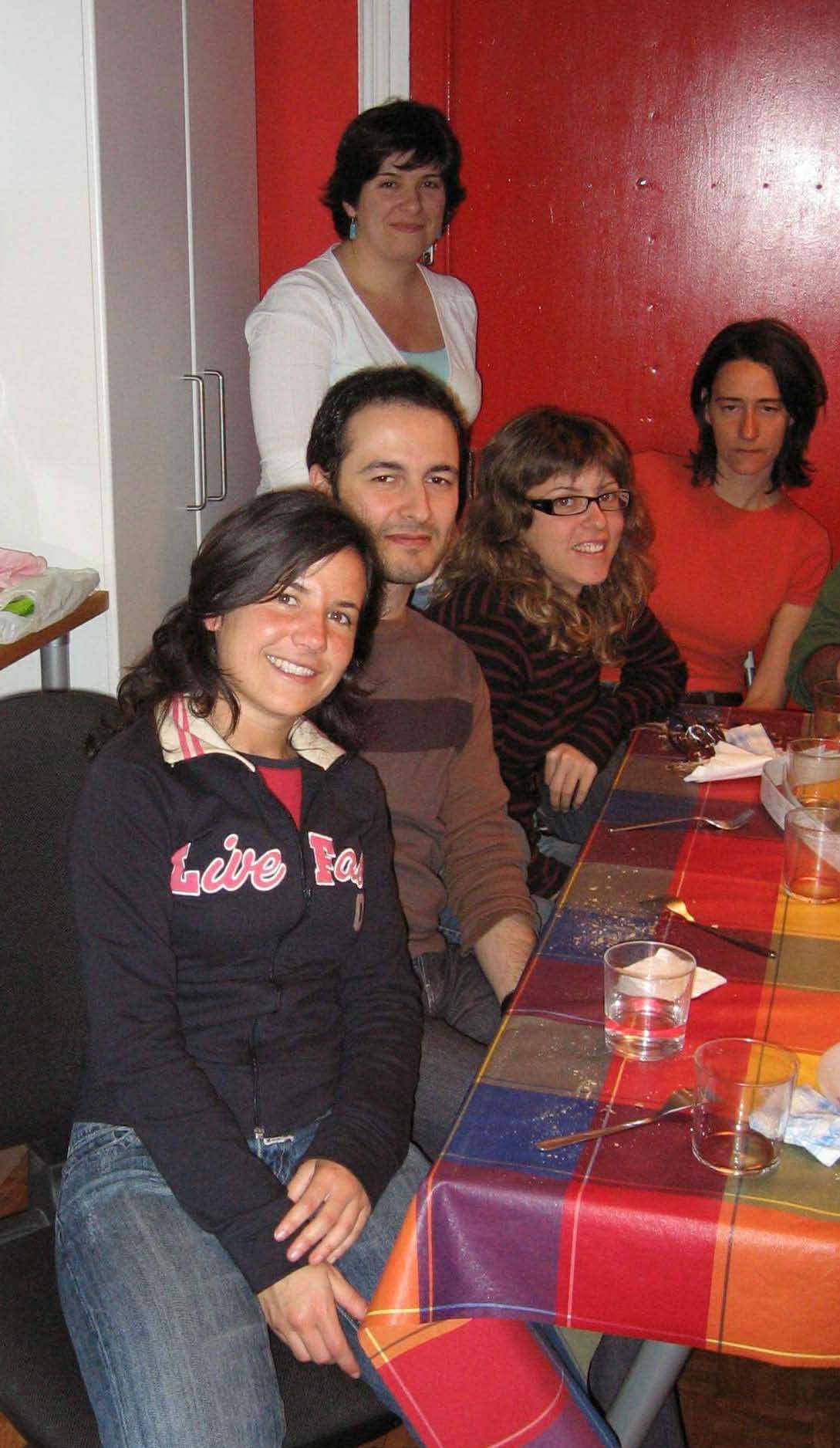 Mª Carmen Delgado, Iván Barreira, Lola Vivas, Laura Galisteo y Esther Redondo