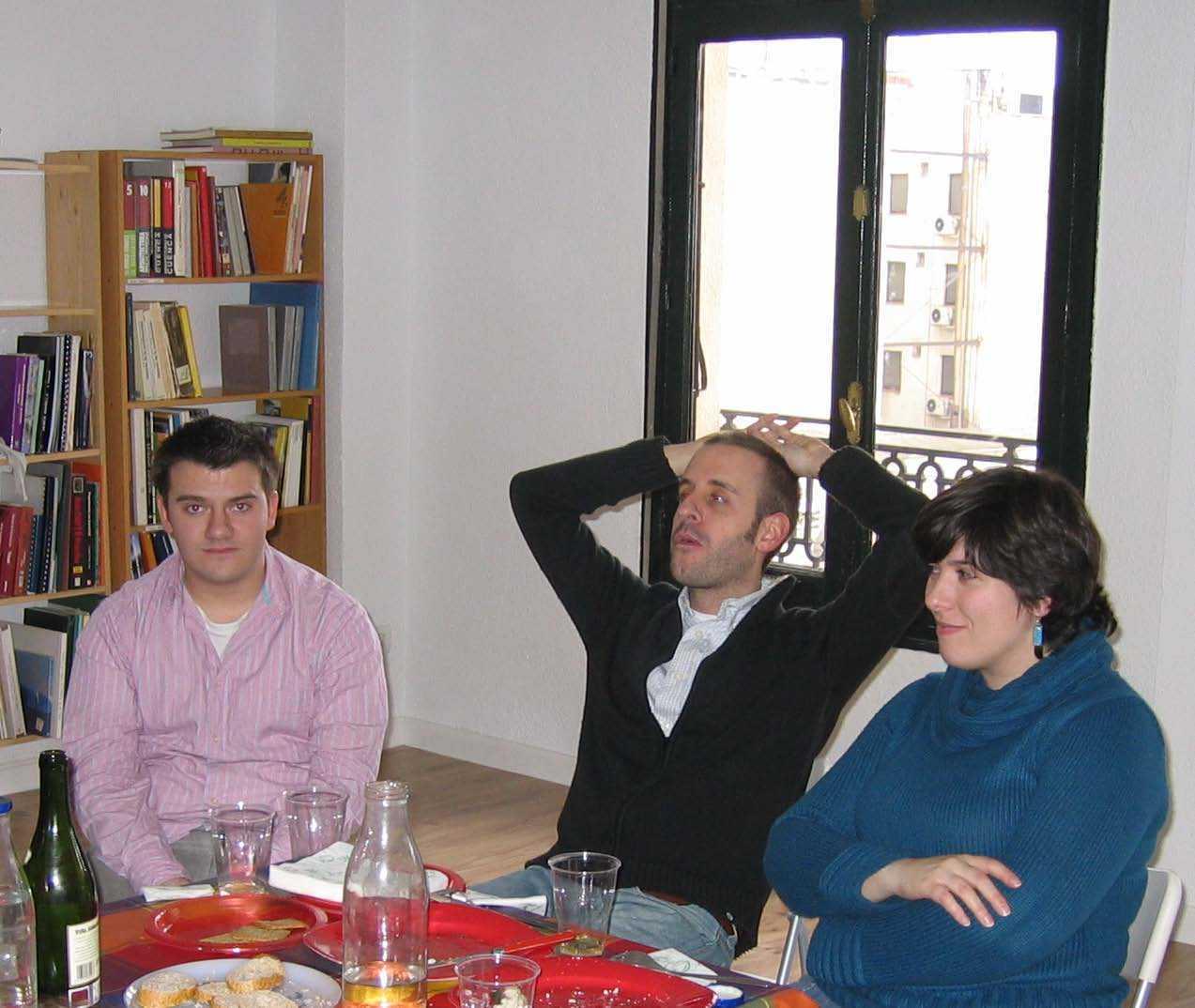 Isaac de la Fuente, Alfredo García y Lola Vivas