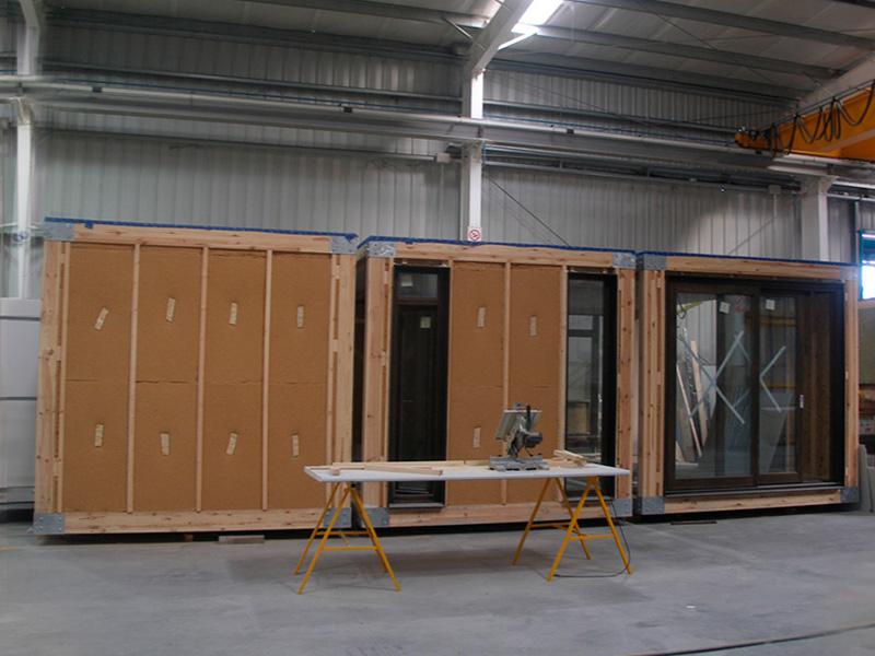 Vivienda modular unifamiliar en La Navata</br></br> 2009</br></br> <h4>Cliente: Francisco Saiz y Pablo Saiz (modulab)</h4>