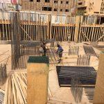 Obra de bloque de viviendas y oficinas en Sudán