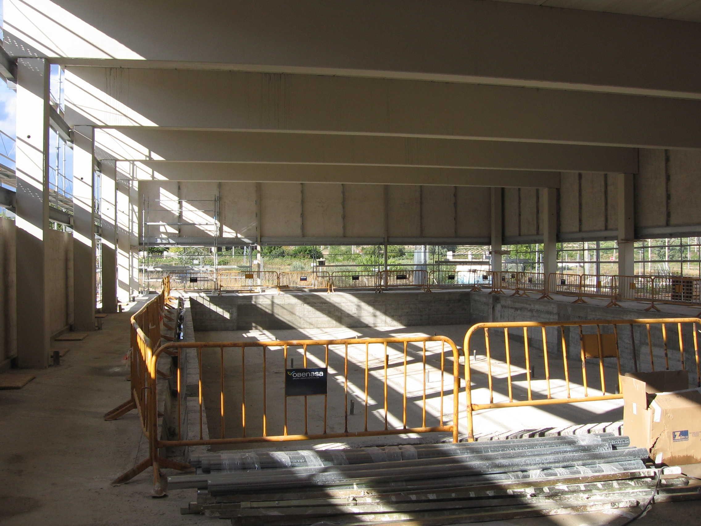 Piscina cubierta en Oyón-Oion (Álava)</br></br> 2006</br></br> <h4>Cliente: Virai Arquitectos S.L.P. (Juan Herranz y Marta Parra)</h4>