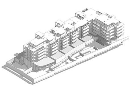 Bloque de 32 viviendas, garajes y trasteros en Valdebebas