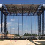 Montaje del escenario principal del Mad Cool